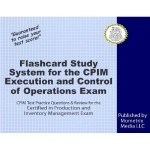 Flashcard Study System for Execution and Control of Operations