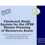 Flashcard Study System for Master Planning of Resources